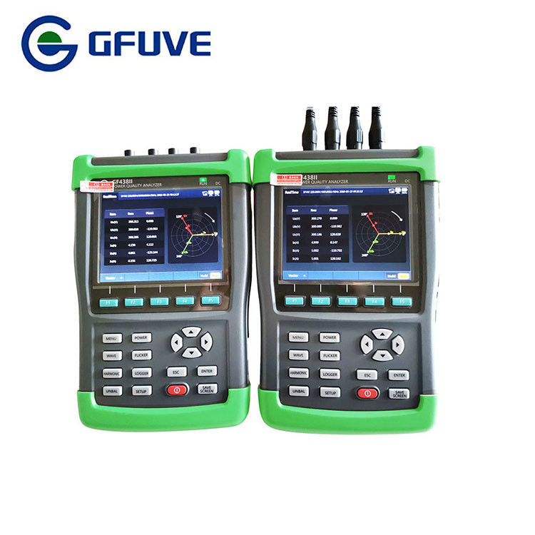 0.001V Resolution Power Quality Analyzer 0.1% RG Accuracy Portable Power Analyzer